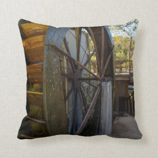 Water Wheel Dawt Mill Throw Pillow