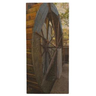 Water Wheel Dawt Mill Wood USB Flash Drive