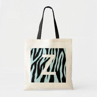 Water Zebra Print Tote Bag