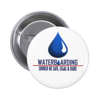 Waterboarding 2 Inch Round Button