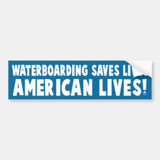 Waterboarding Bumper Sticker