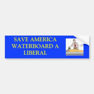 waterboardingaliberal, SAVE AMERICAWATERBOARD A... Bumper Sticker