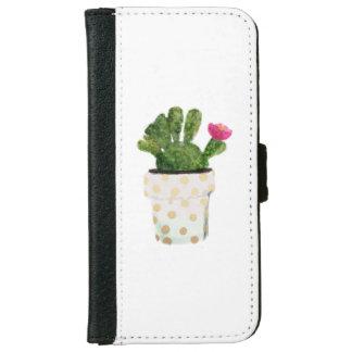 Waterclor Cactus iPhone 6/6s Wallet Case