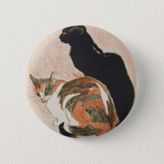 Watercolor - 2 Cats - Théophile Alexandre Steinlen 2 Inch Round Button
