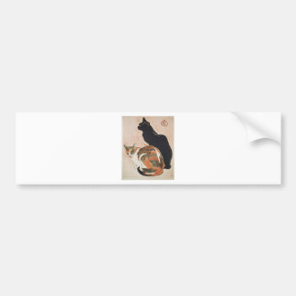 Watercolor - 2 Cats - Théophile Alexandre Steinlen Bumper Sticker