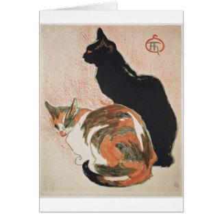 Watercolor - 2 Cats - Théophile Alexandre Steinlen Card