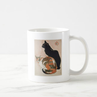 Watercolor - 2 Cats - Théophile Alexandre Steinlen Coffee Mug