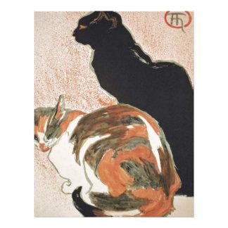 Watercolor - 2 Cats - Théophile Alexandre Steinlen Letterhead