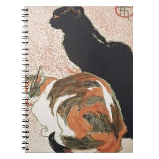 Watercolor - 2 Cats - Théophile Alexandre Steinlen Notebooks