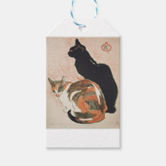 Watercolor - 2 Cats - Théophile Alexandre Steinlen Pack Of Gift Tags