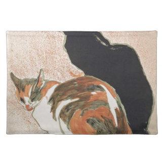 Watercolor - 2 Cats - Théophile Alexandre Steinlen Placemats