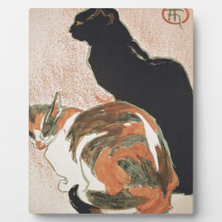 Watercolor - 2 Cats - Théophile Alexandre Steinlen Plaque