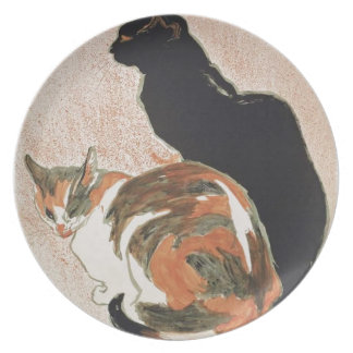 Watercolor - 2 Cats - Théophile Alexandre Steinlen Plate