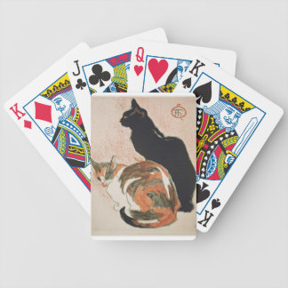 Watercolor - 2 Cats - Théophile Alexandre Steinlen Poker Deck