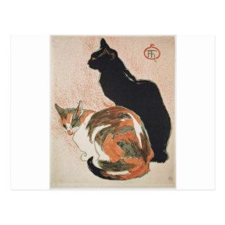 Watercolor - 2 Cats - Théophile Alexandre Steinlen Postcard
