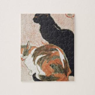 Watercolor - 2 Cats - Théophile Alexandre Steinlen Puzzle