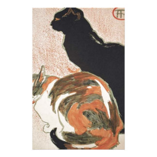 Watercolor - 2 Cats - Théophile Alexandre Steinlen Stationery