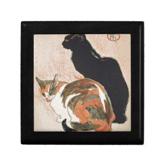 Watercolor - 2 Cats - Théophile Alexandre Steinlen Trinket Boxes