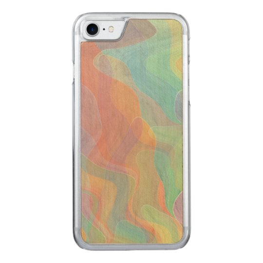 Watercolor Abstract Art Carved iPhone 7 Case