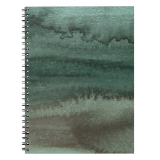 Watercolor Abstract Camouflage Colours Spiral Notebook