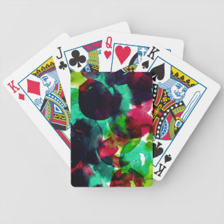 Watercolor abstract circles poker deck