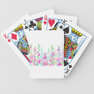 Watercolor abstract floral bed bicycle playing cards