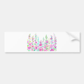 Watercolor abstract floral bed bumper sticker