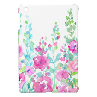 Watercolor abstract floral bed cover for the iPad mini