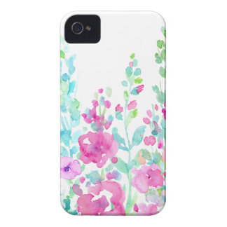 Watercolor abstract floral bed iPhone 4 case