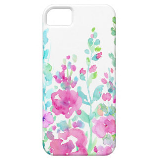 Watercolor abstract floral bed iPhone 5 cover