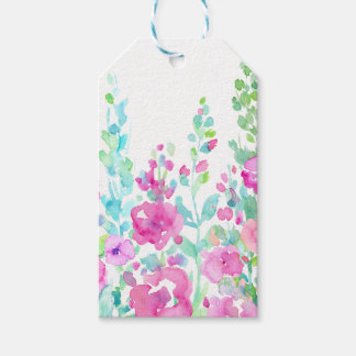 Watercolor abstract floral bed pack of gift tags