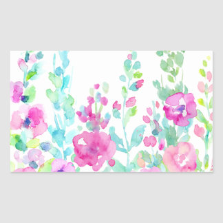 Watercolor abstract floral bed sticker