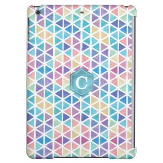 Watercolor Abstract Geometric (Coral Reef Tones) iPad Air Cases