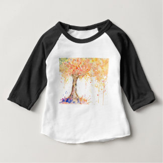 Watercolor Abstract Golden Tree Baby T-Shirt