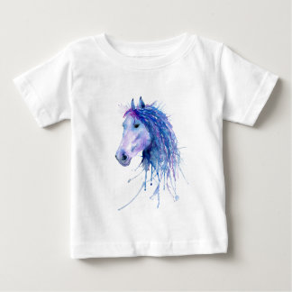 Watercolor Abstract Horse Portrait Baby T-Shirt