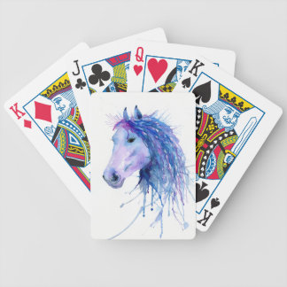Watercolor Abstract Horse Portrait Bicycle Playing Cards