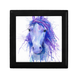 Watercolor abstract horse portrait gift box