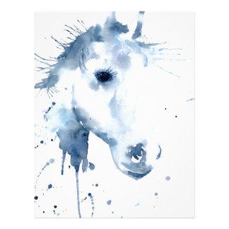 Watercolor Abstract Horse Portrait Letterhead