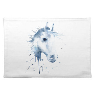 Watercolor Abstract Horse Portrait Placemat