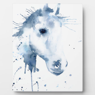 Watercolor Abstract Horse Portrait Plaque