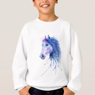 Watercolor Abstract Horse Portrait Sweatshirt