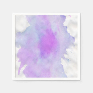 Watercolor abstract modern paper napkins