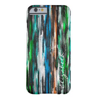 Watercolor Abstract Monogram #19 Barely There iPhone 6 Case