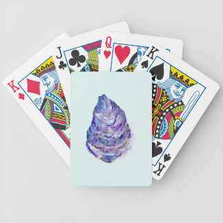 Watercolor abstract Oyster Shell Poker Deck