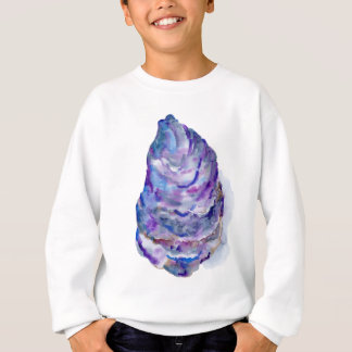 Watercolor abstract Oyster Shell Sweatshirt