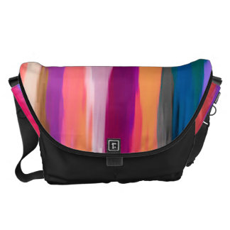 Watercolor Abstract Pattern 3 Courier Bag