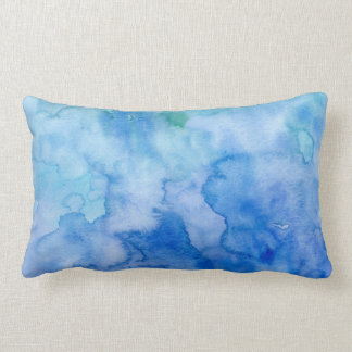 Watercolor Abstract pattern Blue Pillows