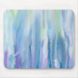 Watercolor Abstract Pattern Purple Strip Mouse Pad