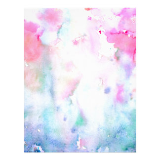 Watercolor Abstract Pink Pattern, Pink Forest Letterhead