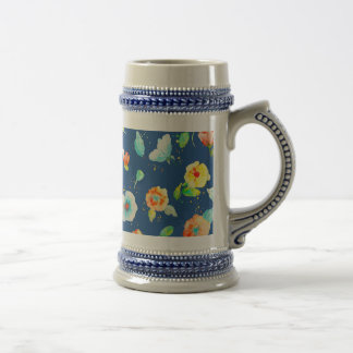 Watercolor Abstract Poppies Mug Beer Steins